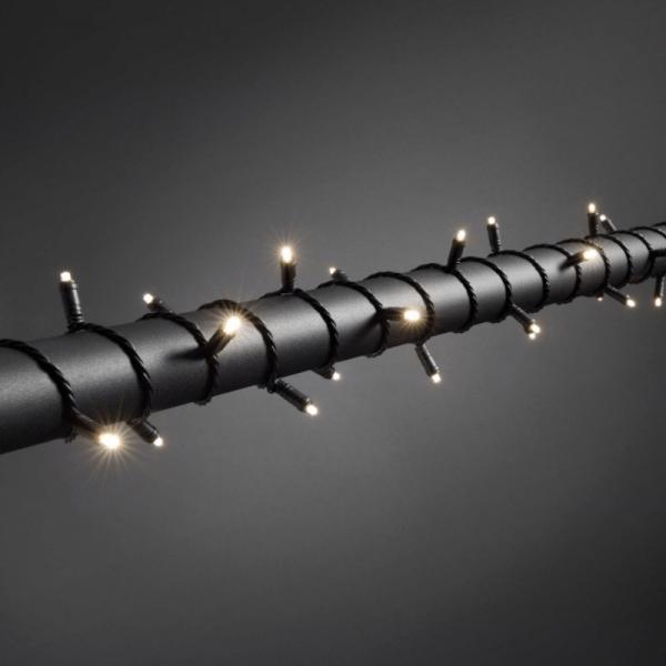 LED Microlichterkette - LED Expert - 7,9m - 80x Warmweiß - Schwarzes Softkabel - Outdoor - Dimmer