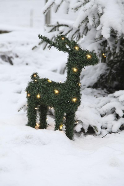 "3D-LED Rentier ""Donner""- 50 warmweiße LEDs - H: 58cm - Outdoor Figur"