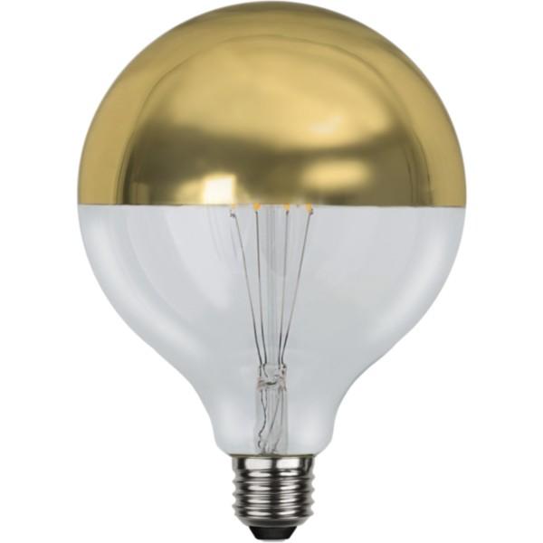 LED GLOBE FILA TOP COATED gold G125 - E27 - 4W - WW 2700K - 330lm - dimmbar