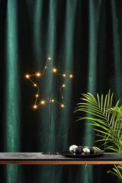 "LED-Standleuchte ""Sparkling"" - 15 warmweiße LED - Material: Metall - Farbe: schwarz - H: 60cm, B: 31cm"