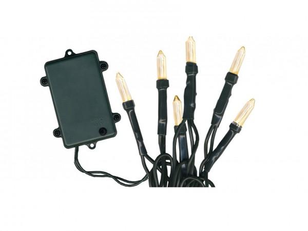 LED-Lichterkette - Garden Line Outdoor - Batteriebetrieb - Timer - Controller - 7,20m - 96x Warmweiß