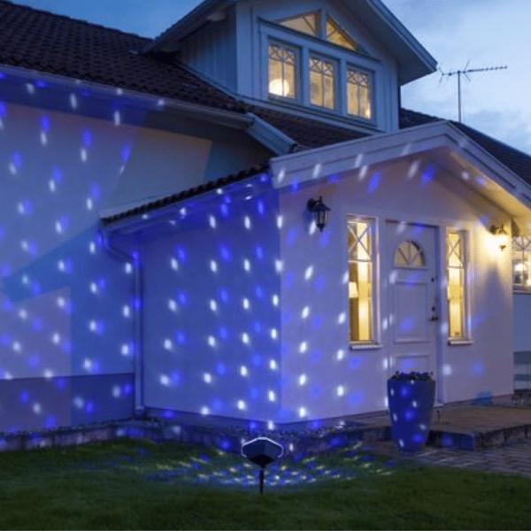 LED Schneeflocken-Projektor - mehrfarbig - Timer - outdoor - mit Erdspieß - Fernbedienung