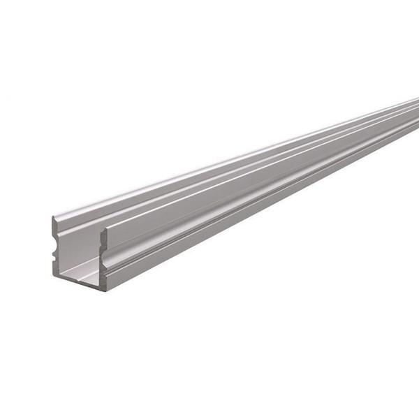 U-Profil hoch AU-02-10 für 10 - 11,3 mm LED Stripes, Silber-matt, eloxiert, 2000 mm