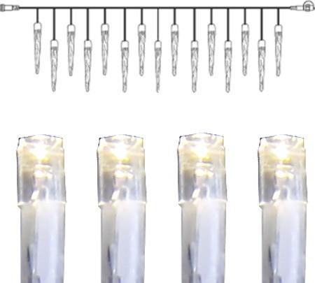 System DECOR | Eiszapfen-Vorhang | koppelbar | 5m | transparentes Kabel | 50 daylight LEDs