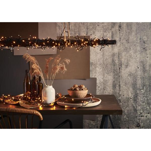 LED Lichterkette - Serie LED - outdoor - 80 ultra warmweiße LED - L: 5,6m - schwarzes Kabel