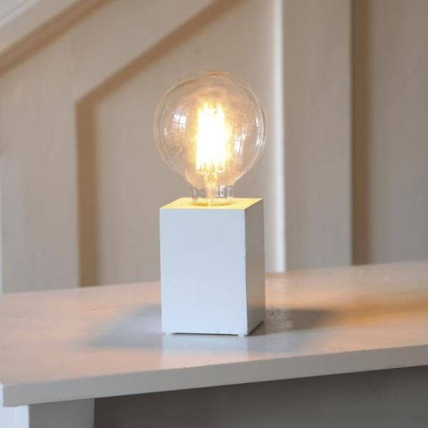 Lampenhalterung | LYS | E27 | →7cm x ↑10cm | 180cm Kabel | Fassung Weiß