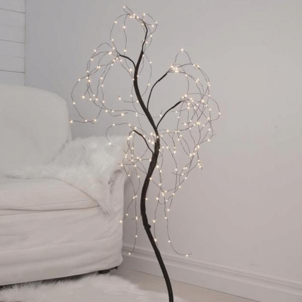 "B-Ware LED-Dekobaum ""Willy"" - 180 warmweiße LED - biegsame Äste - H: 100cm - inkl. Trafo - schwarz"