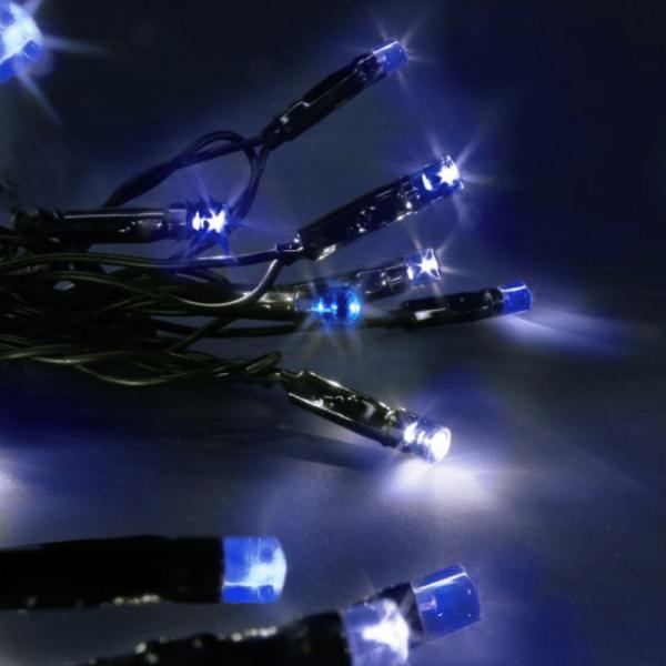 LED-Lichterkette | Serie LED | Outdoor | 4m schwarzes Kabel | 40 blaue LED | 4.00m