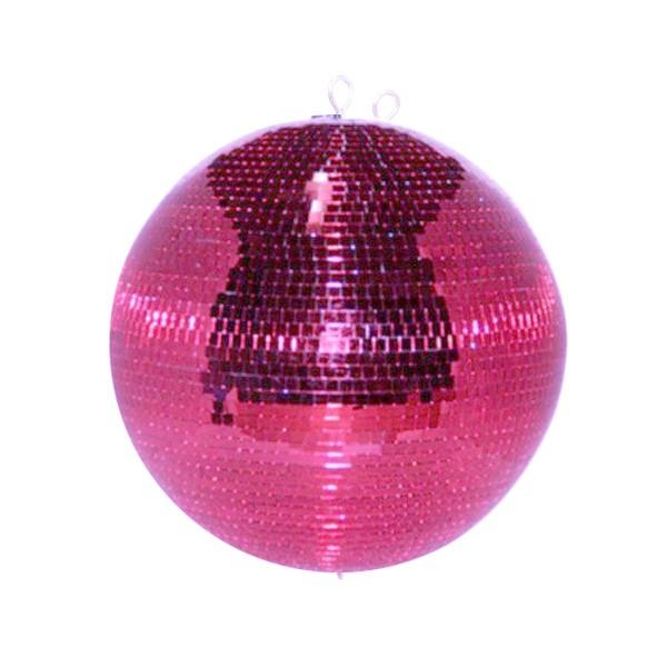 Spiegelkugel 40cm - pink - Safety - Diskokugel Echtglas - 10x10mm Spiegel PROFI