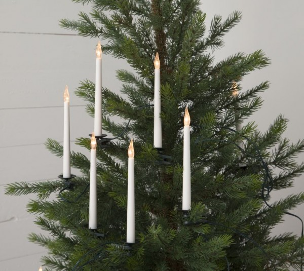 LED-Kerzenkette | Indoor | Slimline | statische LED | 10,5m | ↑18cm | 16er Set