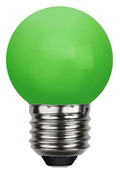 LED Kugellampe DECOLINE G45 - 1,0W - grün - 30lm - E27