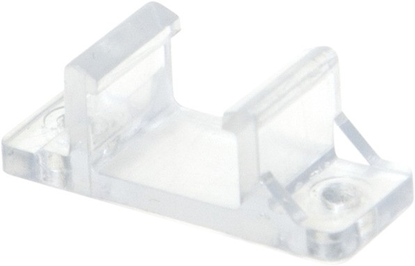 Clips NEOLED - transparenter Montageclip - 10 Stück - Horizontalmontage