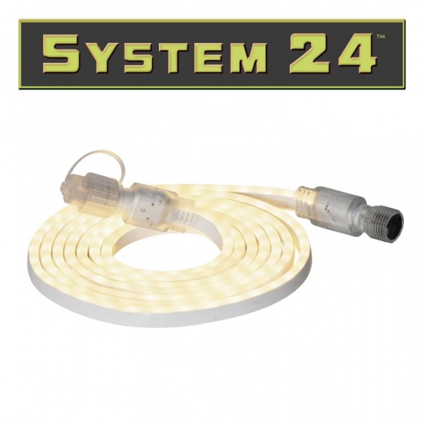 System 24   LED Lichtschlauch   180 LEDs, warmweiß   koppelbar   exkl. Trafo   3m   outdoor