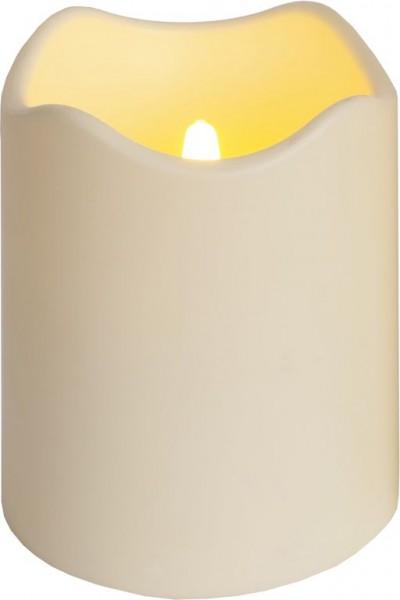 LED-Kerze | Kunststoff | Paul-Design | flackernde LED | Lichtsensor | Creme | →10cm