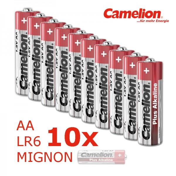 Batterie Mignon AA LR6 1,5V PLUS Alkaline - Leistung auf Dauer - 10 Stück - CAMELION