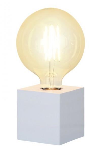 Lampenhalterung | KUB | E27 | 9cm x 9cm | 180cm Kabel | Holz Weiß