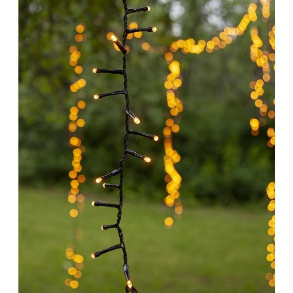LED Lichterkette - Serie LED - outdoor - 540 ultra warmweiße LED - L: 10,8m - schwarzes Kabel
