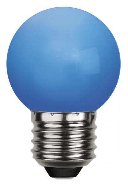 LED Kugellampe DECOLINE G45 - 1W - blau - 6lm - E27