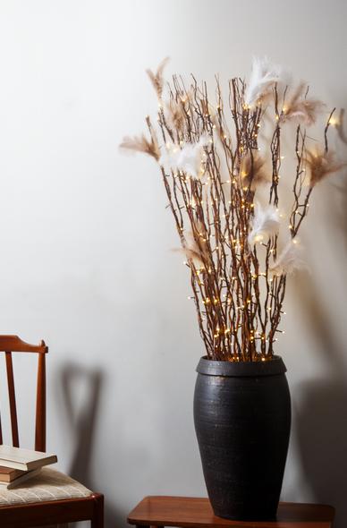 "LED Leuchtzweig ""Willow"" - braune Weide - 60 warmweiße LED - H: 115cm - inkl. Trafo"
