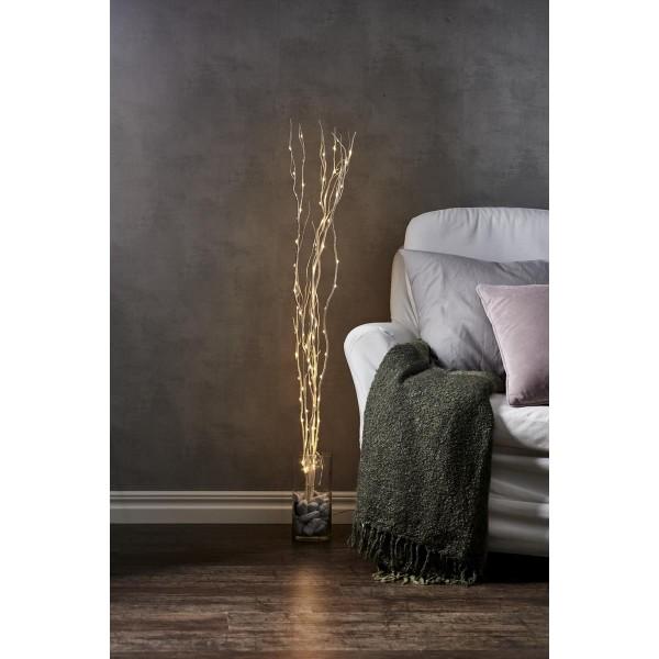 "LED Leuchtzweig ""Willow"" - weiße Weide - 90 warmweiße LED - H: 115cm - inkl. Trafo"