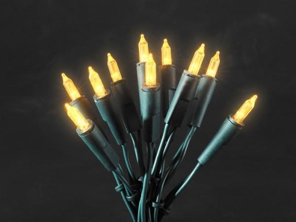 LED-Lichterkette - 35x gelbe LEDs - L: 5,10m - Indoor - Grünes Kabel