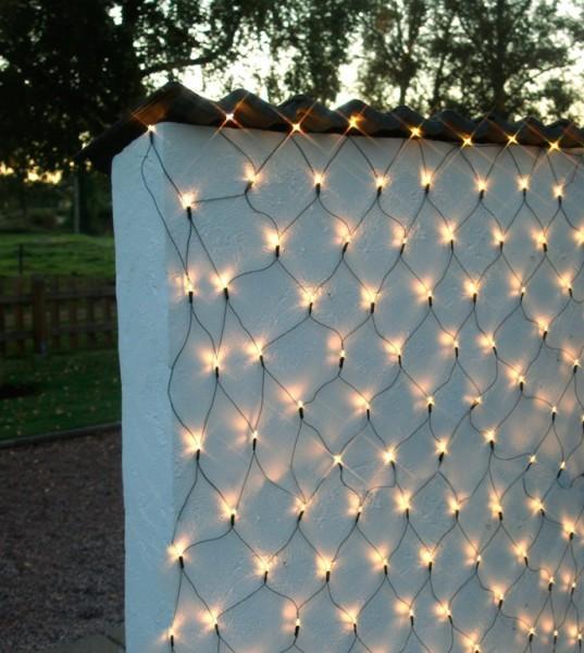 LED-Lichternetz - Garden Line Outdoor - 1,00 x 1,50m - 80x Warmweiß - Grün