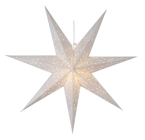 """Papierstern """"Galaxy"""" - mit Sternenbildern - hängend - 7-zackig - Ø 100 cm - inkl. Kabel - weiß"""