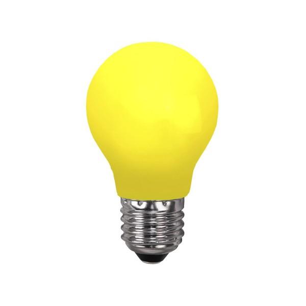 LED Leuchtmittel DEKOPARTY gelb - A55 - E27 - 0,8W - 18lm - schlagfestes Polycarbonatgehäuse