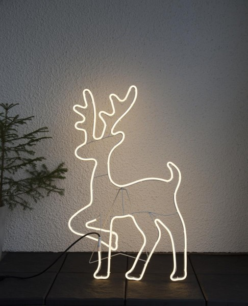 """LED-Silhouette """"Neoled"""" Rentier - 600 warmweiße LEDs - H: 84cm - outdoor"""