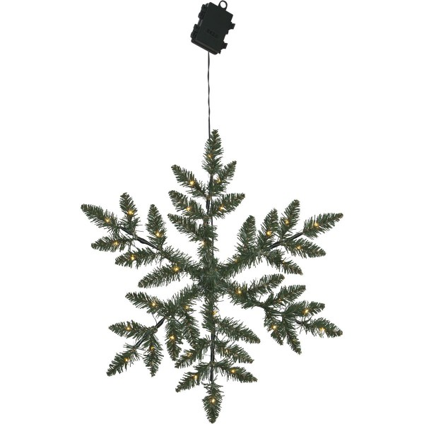 "LED-Schneeflocke ""Snowflake"" - Tannendekor - D: 50cm - 36 warmweiße LEDs - outdoor - Batterie"