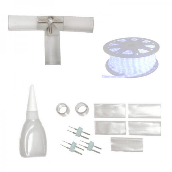Lichtschlauch T-Verbindungsstück - Abzweig - Montageset - ROPELIGHT