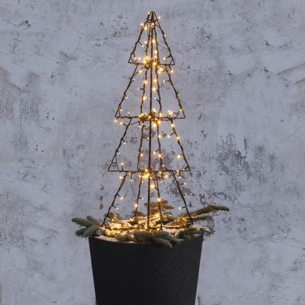 "LED-Leuchtbaum ""Foldy"" - 140 warmweiße LED - H: 90cm - Trafo - 3m Zuleitung - outdoor"