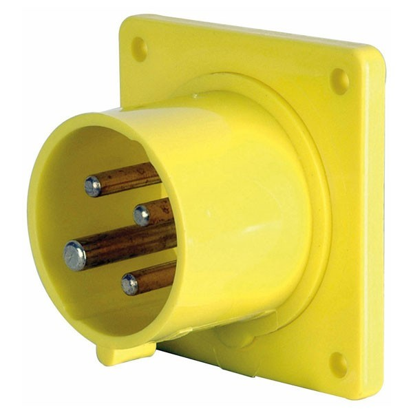 CEE Form 16A 4 Pin Socket Male Anbausockel Starkstrom
