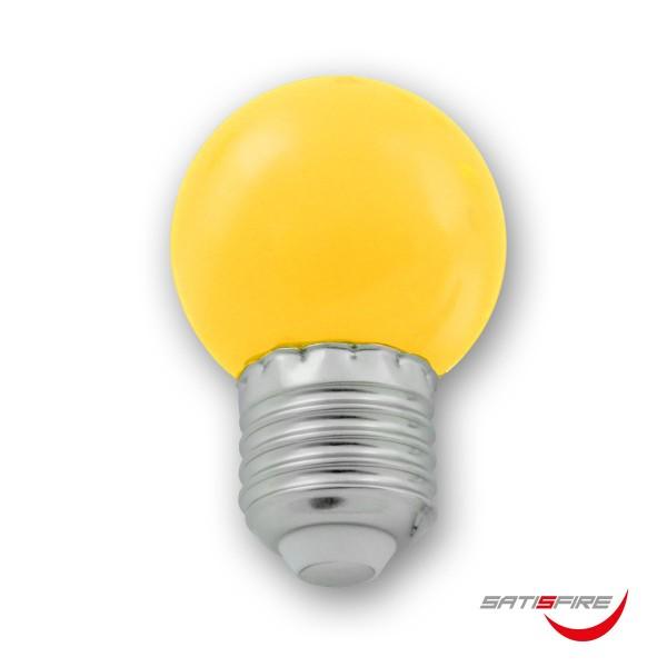 LED Leuchtmittel G45 - gelb - E27 - 1W | SATISFIRE