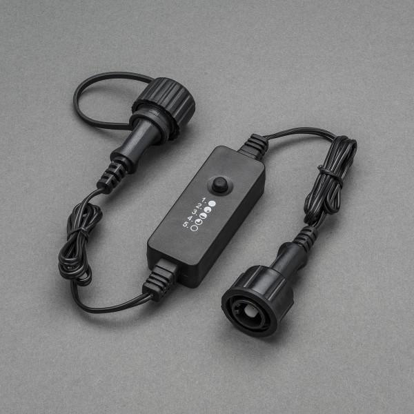 Zwischendimmer für Lichterketten - OUTDOOR - 5 Stufen - Konstsmide Outdoor IP44 Stecker