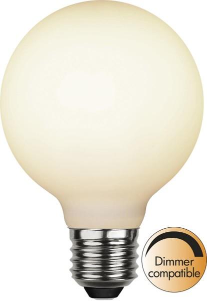 LED DEKO Leuchtmittel - OPAL - soft-touch - E27 - D: 80mm - 5W - 2600K - 400lm - dimmbar.