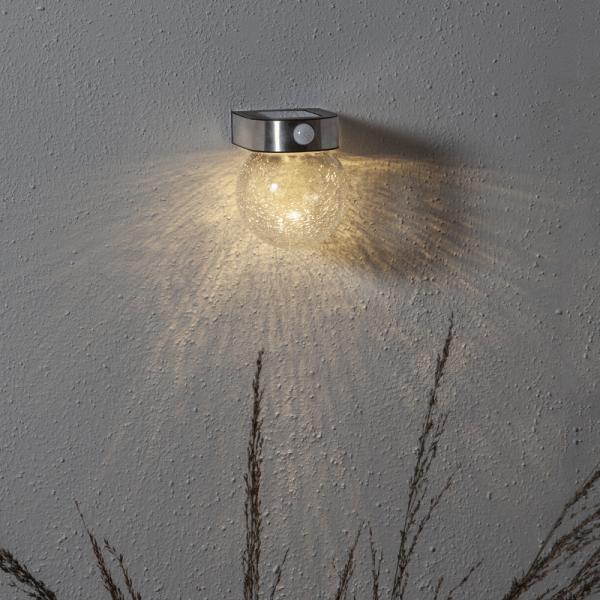 """LED Solar Wandleuchte """"Glory"""" - 4 warmweiße LED - H: 14,5cm - Dämmerungssensor & Bewegungssensor"""