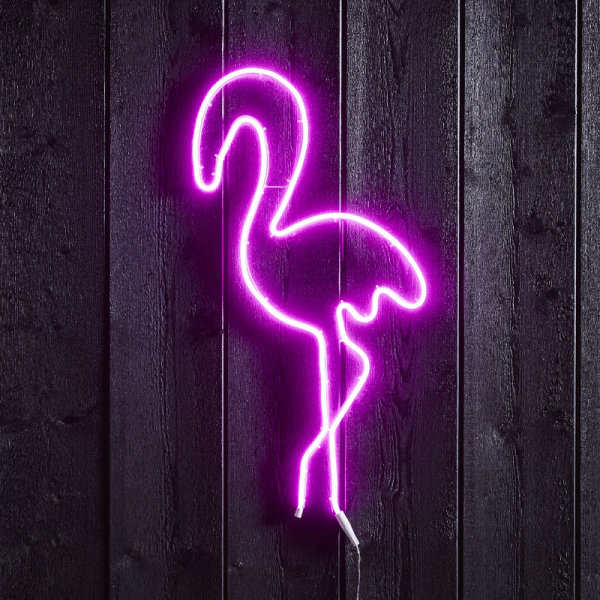 "LED Silhouette ""Flamingo"" - Flatneon - 230 LED - H. 74cm - outdoor - pink"