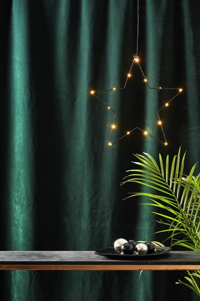 """LED-Standleuchte """"Sparkling"""" - 15 warmweiße LED - Material: Metall - Farbe: schwarz - D: 37cm"""