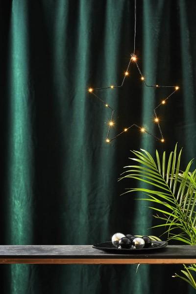 """LED-Metallstern """"Sparkling"""" - 15 warmweiße LEDs - Ø 37cm - Batteriebetrieb - Timer - schwarz"""