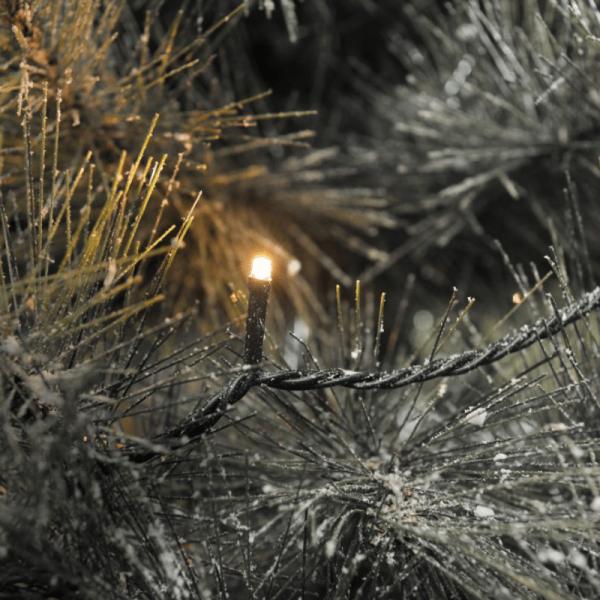 LED Microlichterkette - Outdoor - 6,24m - 40 x Hellweiß - schwarzes Kabel -10m Zuleitung - Trafo