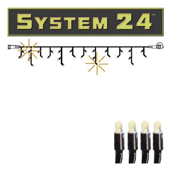 System 24 | LED-Lichtvorhang | koppelbar | exkl. Trafo | 3.00m x 0.40m | 49x Warmweiß