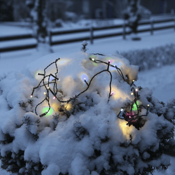 LED Lichterkette - Serie LED - Outdoor - 4m schwarzes Kabel - 40 bunte LED