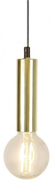 Lampenfassung | GLANS | E27 | 350cm Kabel | Röhre | hängend | Messing
