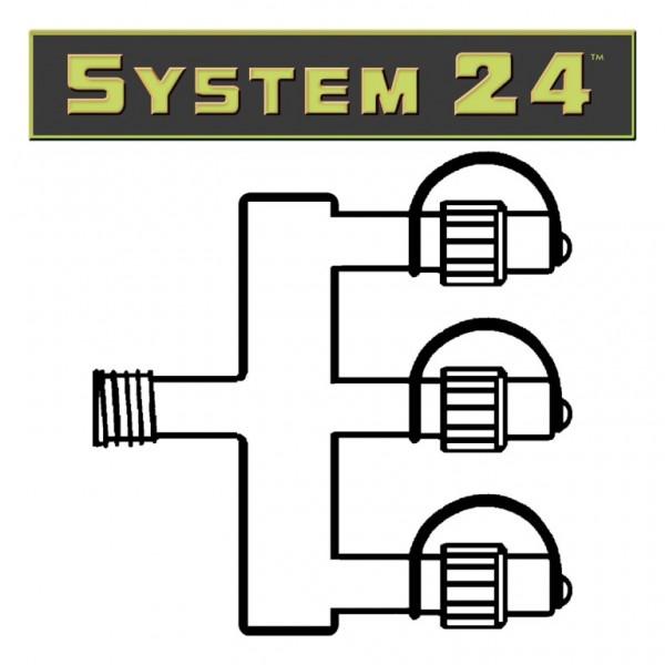 System 24 | Verteiler | koppelbar | exkl. Trafo | 3-fach