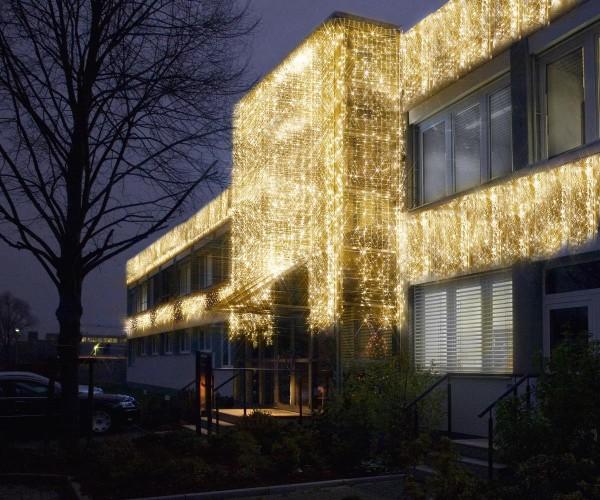 System LED Black | Lichtvorhang | koppelbar | exkl. Trafo | 3.00m x 0.40m | 50x Warmweiß