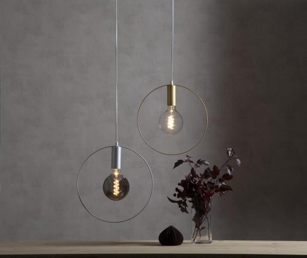 "Deko-Lampenfassung SHAPE ""C"" - silber - D: 37cm - E27 - max 25W 1"