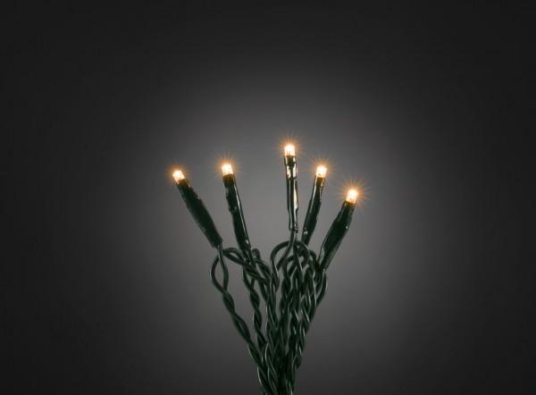 Microlichterkette - LED Pure - Indoor - 0,63m - 10 x Ultra Warmweiß - Grünes Kabel - Strang