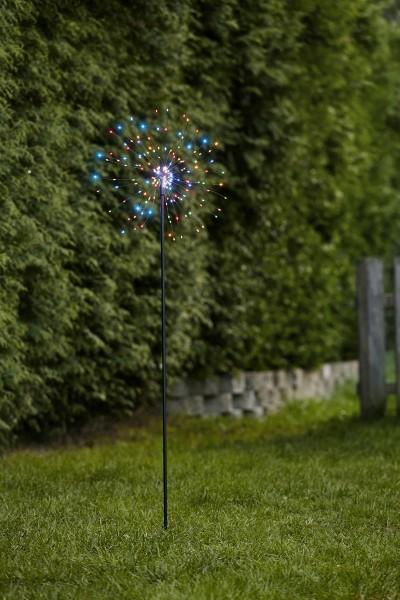 """LED Stab """"Firewok"""" - 110cm - schwarz - 160 kleine farbige LEDs - inkl. Trafo"""