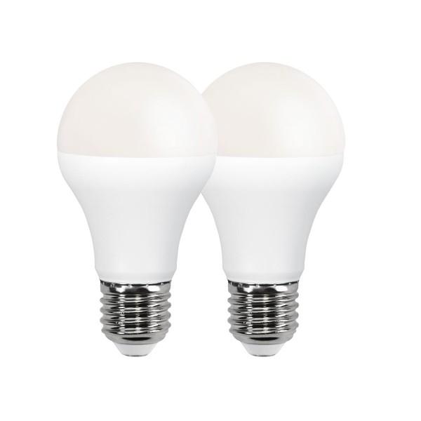 LED Leuchtmittel 2er Pack A60 - E27 - 9W - warmweiss 3000K - 800lm - PROMOLED